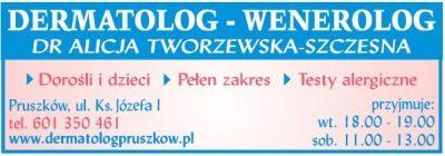 DERMATOLOG-WENEROLOG Dr Alicja Tworzewska-Szczesna