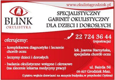 Specjalistyczny Gabinet Okulistyczny dla dzieci i dorosłych BLINK