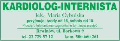 Kardiolog – Internista lek. Maria Cybulska