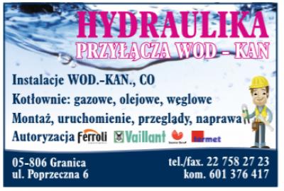 Hydraulika Przyłącza Wod-Kan