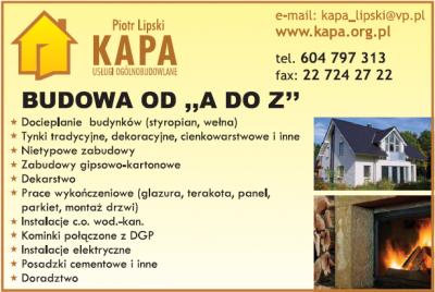 KAPA Usługi Ogólnobudowlane Piotr Lipski