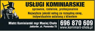 Usługi kominiarskie Maciej Choła