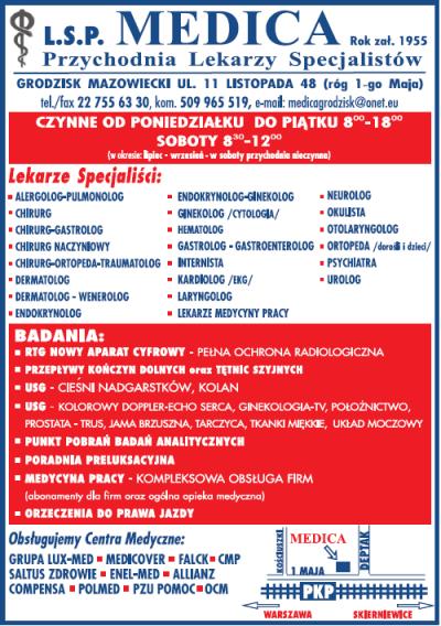 L.S.P. MEDICA Przychodnia Lekarzy Specjalistów