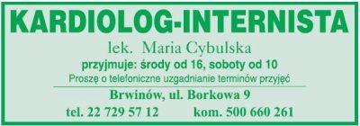 Lek. med. Maria Cybulska   kardiolog-internista