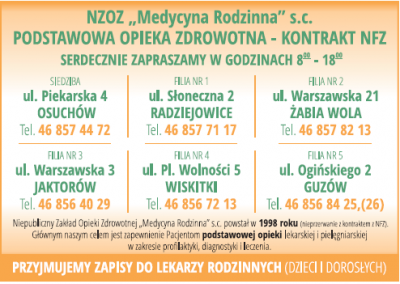 """NZOZ """"Medycyna Rodzinna"""" S.C"""