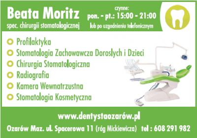 BEATA MORITZ spec. Chirurgii stomatologicznej