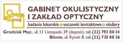Gabinet Okulistyczny i Zakład Optyczny – Optyka na Złotej