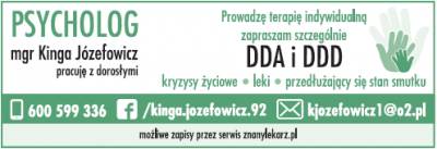 Psycholog mgr. Kinga Józefowicz