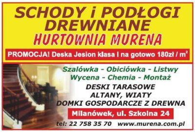 Hurtownia MURENA – schody i podłogi drewniane