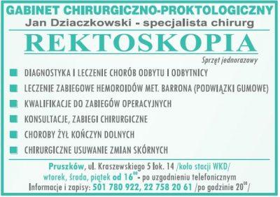 Gabinet Chirurgiczno-Proktologiczny Jan Dziaczkowski – specjalista chirurg