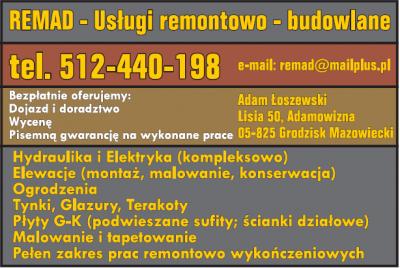 REMAD – usługi remontowo – budowlane