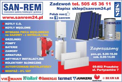SAN-REM Nowoczesne Systemy instalacyjne i grzewcze
