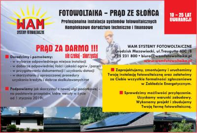 WAM – systemy fotowoltaiczne