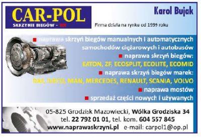 CAR – POL – skrzynie biegów – TIR