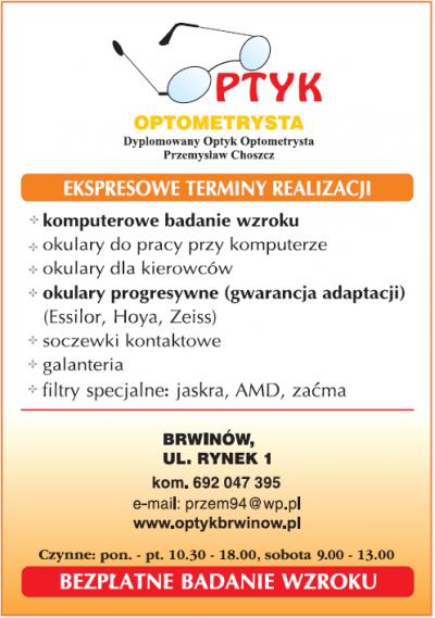 Optyk Optometrysta Przemysław Choszcz