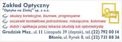 """Zakład Optyczny """"Optyka na Złotej"""" sp.z.o.o"""