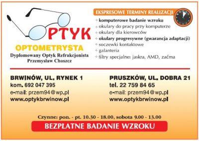Optyk, optometrysta Przemysław Choszcz