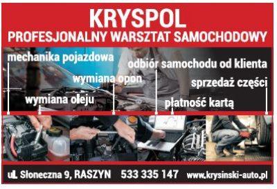 KRYSPOL – profesjonalny warsztat samochodowy