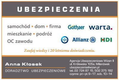 Agencja Ubezpieczeniowa WIZAN II – Anna Kłosek